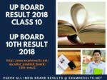 UP Board Result 2018 Class 10, UP Board 10th Result, upresults.nic.in