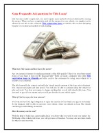 Some Frequently Ask questions for Title Loans