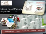Editable Funeral Memorial Prayer Card