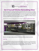 Do It Yourself Kitchen Remodeling Ideas