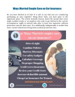Ways Married Couple Can Save on Car Insurance