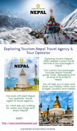 Exploring Tourism:Nepal Travel Agency & Tour Operator