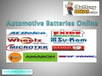 Buy Car Battery, Inverter Battery Online at Best Prices