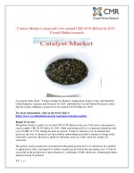Catalyst Market is projected to expand at a steady CAGR over the forecast period 2025