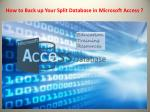 How to Back up Your Split Database in Microsoft Access
