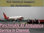 Medical ICU Support Air Ambulance Service in Chennai