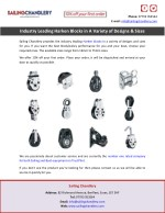 Industry Leading Harken Blocks in A Variety of Designs & Sizes