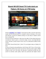 Xiaomi mi led smart tv 4 sale starts on flipkart, mi home at 2 pm today