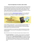 Know the Importance of Labour Laws in India