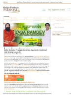 Baba Ramdev Patanjali Medicine, Ayurvedic treatment and beauty product