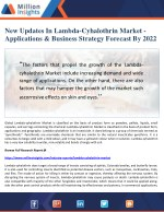 New Updates In Lambda-Cyhalothrin Market - Applications & Business Strategy Forecast By 2022
