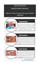 List of some of the most common treatment by Alpha Dental Clinic