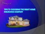 Tips To Choosing The Right Home Insurance Company
