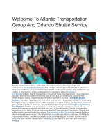Welcome To Atlantic Transportation Group And Orlando Shuttle Service
