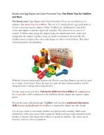 Skoolzy.com Egg Shapes and Colors Preschool Toys: Fine Motor Toys for Toddlers and More