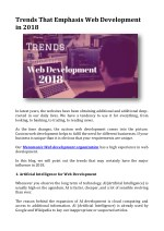 Trends That Emphasis Web Development in 2018
