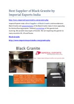 Best Supplier of Black Granite by Imperial Exports India