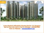 Affordable Housing Sector 111 Gurgaon
