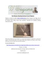 Get Shower Cleaning Services from D'Sapone