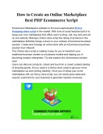 How to Create an Online Marketplace PHP Ecommerce Script