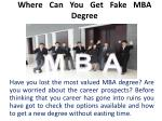 Where Can You Get Fake MBA Degree