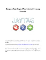 Computer Recycling and Refurbishment By Jaytag Computer