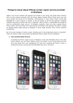 Things to know about iPhone screen repair service provider in Brisbane