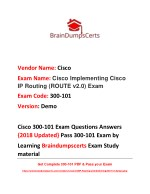 Latest 300-101 Dumps {2018 Updated} Exam Questions Answers PDF