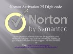 norton activation 25 digit code