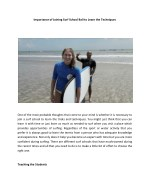 Importance of Joining Surf School Bali to Learn the Techniques