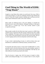 "Cool Thing in The World of EDM: ""Trap Music"""