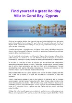 Find yourself a great Holiday Villa in Coral Bay, Cyprus