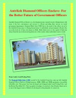Antriksh vaikunth officers enclave is a society based project residential by antriksh group under land pooling policy an