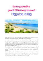 Book yourself a great Villa for your next Cyprus Stay
