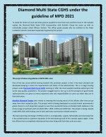 Diamond Multi State CGHS under the guideline of MPD 2021