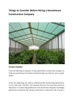 Things to Consider Before Hiring a Greenhouse Construction Company