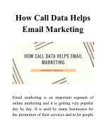 How Call Data Helps Email Marketing