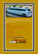 Los Angeles Wedding Limo Services by Deluxe Limo