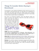 Things To Consider Before Buying A Hoverboard
