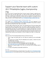 Support your favorite team with custom 2017 Philadelphia Eagles championship ring