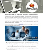 Get Familiar with the Services of Live­-Tech Technical Support