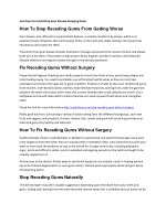 How To Stop Receding Gums From Getting Worse