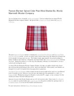 Feature Blanket: Spiced Cider Plaid Wool Blanket By: Woolly Mammoth Woolen Company