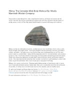 Hiking: The Complete Mind-Body Workout By: Woolly Mammoth Woolen Company