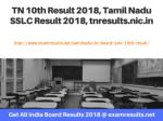 TN 10th Result 2018, Tamil Nadu SSLC Result 2018