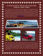 Car Rental Seychelles is What You Must Consider While Looking for a Perfect Holiday!