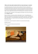 What are the ayurvedic treatments that cure lower back pain or sciatica