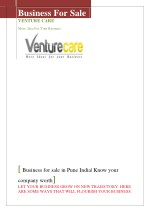 Venture care-Business for sale| Know your company worth