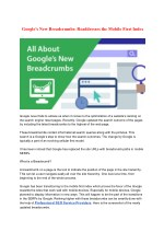 Google's New Breadcrumbs: Readdresses the Mobile First Index