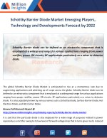 Schottky Barrier Diode Market Emerging Players, Technology and Developments Forecast by 2022